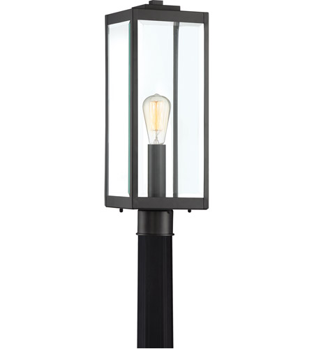 Quoizel WVR9007EK Westover 1 Light 21 inch Earth Black Outdoor Post Lantern  photo