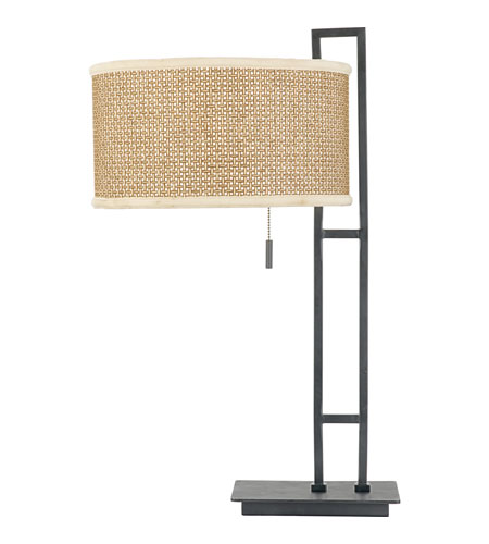 Quoizel Lighting Zen 1 Light Table Lamp in Mystic Black ZE6126K photo