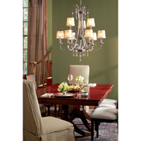 Quoizel Lighting Kendra 9 Light Chandelier in Mottled Silver KD5009MM alternative photo thumbnail