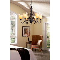 Quoizel Yuma 6 Light Chandelier in Imperial Bronze YU5149IB alternative photo thumbnail