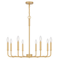 Quoizel ABR5028AB Abner 8 Light 28 inch Aged Brass Chandelier Ceiling Light