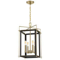 Quoizel ACT5204WT Architect 4 Light 12 inch Western Bronze Foyer Chandelier Ceiling Light
