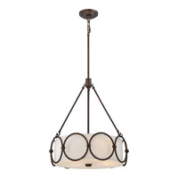 Adams 4 Light 19 inch Leathered Bronze Pendant Ceiling Light