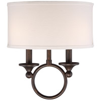 Adams 2 Light 12 inch Leathered Bronze Wall Sconce Wall Light