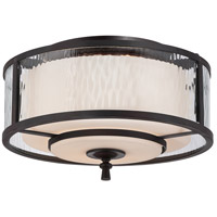 Adonis 2 Light 15 inch Dark Cherry Flush Mount Ceiling Light