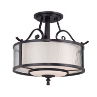 Quoizel Lighting Adonis 3 Light Semi-Flush Mount in Dark Cherry ADS1715DC