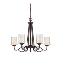 Adonis 5 Light 26 inch Dark Cherry Chandelier Ceiling Light
