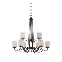 Quoizel Lighting Adonis 9 Light Chandelier in Dark Cherry ADS5009DC