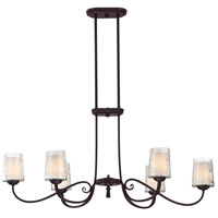 Adonis 6 Light 39 inch Dark Cherry Island Light Ceiling Light