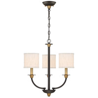 Audley 3 Light 18 inch Old Bronze Mini Chandelier Ceiling Light