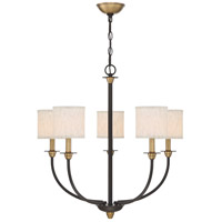 Audley 5 Light 26 inch Old Bronze Chandelier Ceiling Light