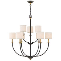 Audley 9 Light 33 inch Old Bronze Chandelier Ceiling Light