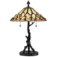 Quoizel AG711TVA Agate 25 inch 75 watt Valiant Bronze Table Lamp Portable Light, Naturals