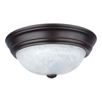 Quoizel Lighting Alabaster Melon 1 Light Flush Mount in Palladian Bronze AL182PN