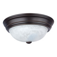 Quoizel Lighting Alabaster Melon 2 Light Flush Mount in Palladian Bronze AL183PN