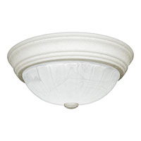 Quoizel Lighting Alabaster Melon 2 Light Flush Mount in Fresco AL183W