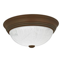 Quoizel Lighting Alabaster Melon 2 Light Flush Mount in Medici Bronze AL183Z