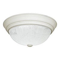 Quoizel Lighting Alabaster Melon 3 Light Flush Mount in Fresco AL184W
