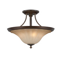 Quoizel Lighting Aliza 3 Light Semi-Flush Mount in Palladian Bronze ALZ1718PN