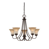 Quoizel Lighting Aliza 5 Light Chandelier in Palladian Bronze ALZ5005PN