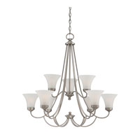 Quoizel Lighting Aliza 9 Light Chandelier in Antique Nickel ALZ5009AN