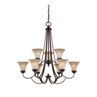 Quoizel Lighting Aliza 9 Light Chandelier in Palladian Bronze ALZ5009PN