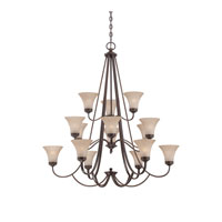Quoizel Lighting Aliza 15 Light Chandelier in Palladian Bronze ALZ5015PN