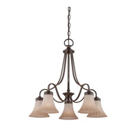 Quoizel Lighting Aliza 5 Light Chandelier in Palladian Bronze ALZ5105PN