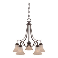 Quoizel Lighting Aliza 5 Light Chandelier in Palladian Bronze ALZ5105PN alternative photo thumbnail