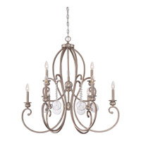 Quoizel Ambrose 9 Light Foyer Chandelier in Vintage Gold AMB5009VG