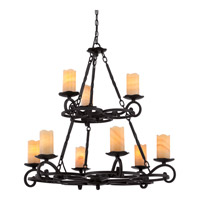 Quoizel Armelle 9 Light Foyer Chandelier in Imperial Bronze AME5009IB