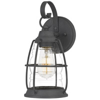 Quoizel AMR8406MB Admiral 1 Light 12 inch Mottled Black Outdoor Wall Lantern
