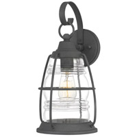 Quoizel AMR8408MB Admiral 1 Light 16 inch Mottled Black Outdoor Wall Lantern