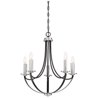Quoizel ANA5005K Alana 5 Light 23 inch Mystic Black Chandelier Ceiling Light