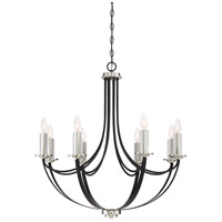 Quoizel ANA5008K Alana 8 Light 30 inch Mystic Black Chandelier Ceiling Light