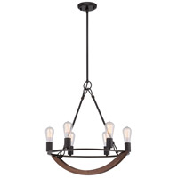 Anchor 6 Light 23 inch Imperial Bronze Chandelier Ceiling Light