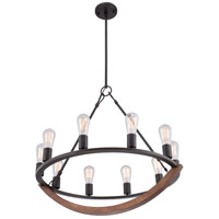 Quoizel ANR5010IB Anchor 10 Light 28 inch Imperial Bronze Chandelier Ceiling Light alternative photo thumbnail