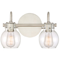 Andrews 2 Light 14 inch Antique Nickel Bath Light Wall Light