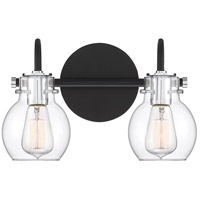Andrews 2 Light 14 inch Earth Black Bath Light Wall Light, Medium