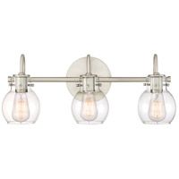 Andrews 3 Light 22 inch Antique Nickel Bath Light Wall Light
