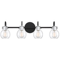 Quoizel ANW8604EK Andrews 4 Light 31 inch Earth Black Bath Light Wall Light, Extra Large