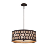 Quoizel Lighting Ariella 4 Light Pendant in Palladian Bronze ARL2818PN