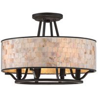 Aristocrat 4 Light 16 inch Palladian Bronze Semi-Flush Mount Ceiling Light, Naturals