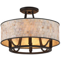Quoizel AS1716PN Aristocrat 4 Light 16 inch Palladian Bronze Semi-Flush Mount Ceiling Light, Naturals alternative photo thumbnail