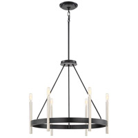Quoizel ATH5006K Anthem 6 Light 25 inch Mystic Black Chandelier Ceiling Light