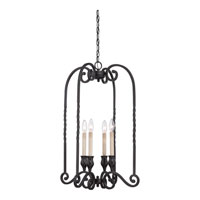 Quoizel Lighting Atrium 4 Light Chandelier in Mystic Black ATM5204K