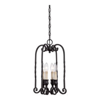 Quoizel Lighting Atrium 4 Light Chandelier in Mystic Black ATM5304K