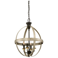 Quoizel Afton 4 Light Foyer Piece in Antique Nickel ATN5204AN