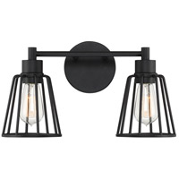 Atticus 2 Light 16 inch Earth Black Vanity Light Wall Light