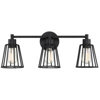 Atticus 3 Light 24 inch Earth Black Vanity Light Wall Light
